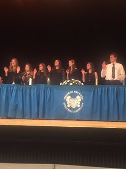 NHS Inducts first honorees into Rho Kappa Honor Society