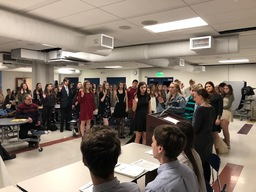 NHS Inducts 43 New Members to the National Honor Society Chapter
